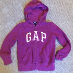 Kids GAP zip hoodie sweatshirt with sequins